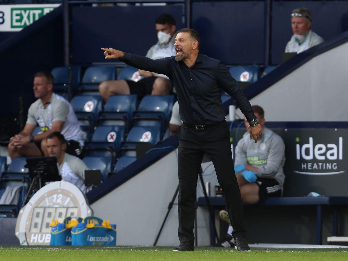 Slaven Bilic head coach / manager of West Bromwich Albion.