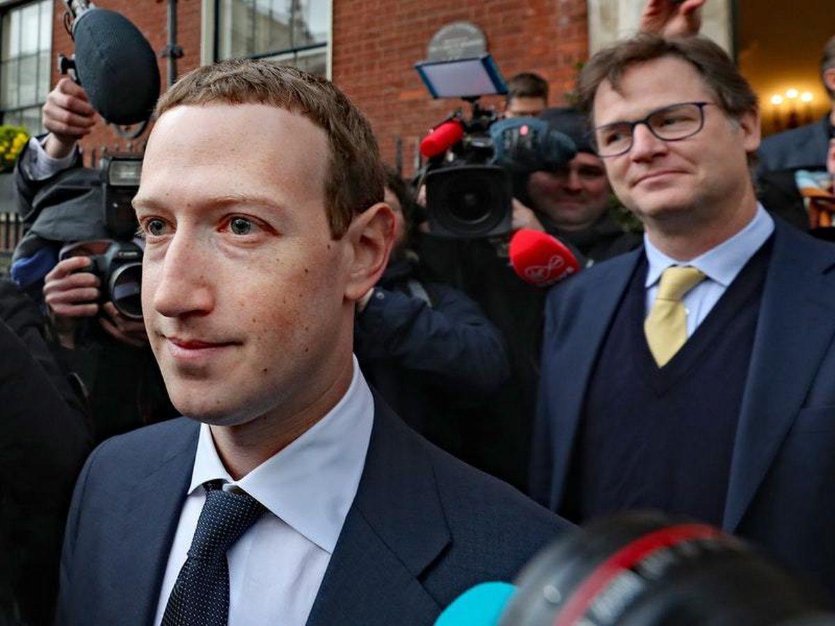 Mark Zuckerberg and Nick Clegg