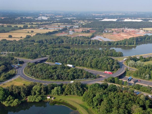 The new 600-acre freight depot is to be built next to Junction 12 of the M6