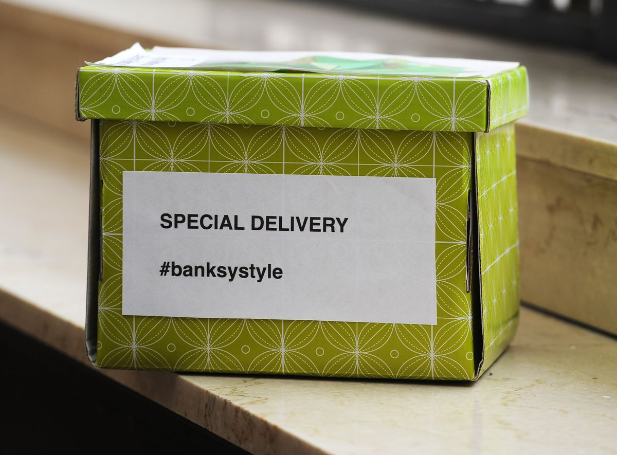 The Special Delivery box which contained the note