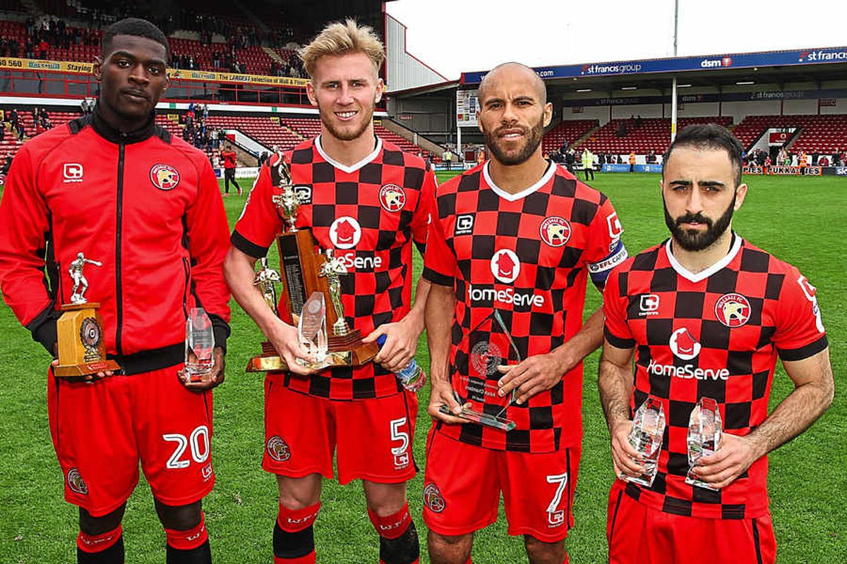 Walsall stars receive their awards