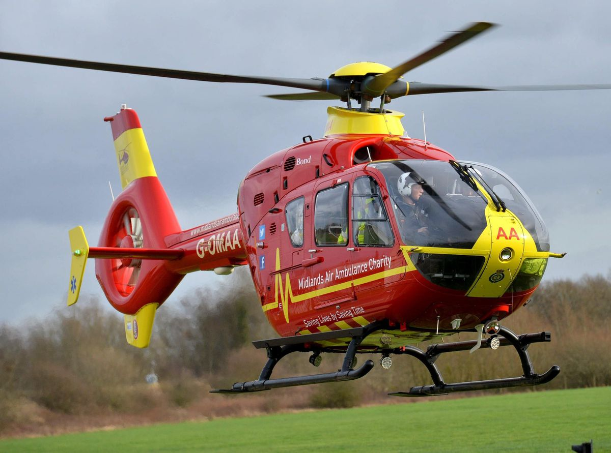 The charity has bases at RAF Cosford, Tatenhill and Strensham