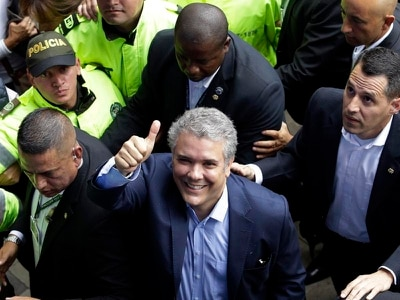 Conservative leads way as Colombia's presidential election heads for run-off