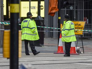 Part of Navigation Street was cordoned off outside New Street. Photo: SnapperSK