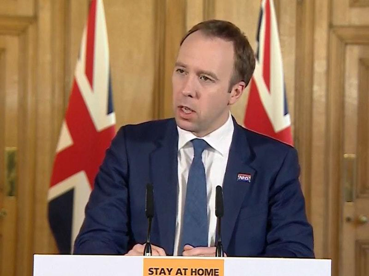 Health Secretary Matt Hancock