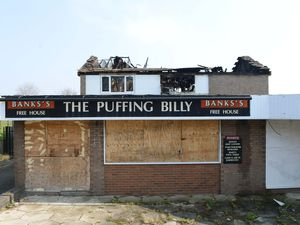 A fire destroyed the first floor of the Puffing Billy in Smethwick
