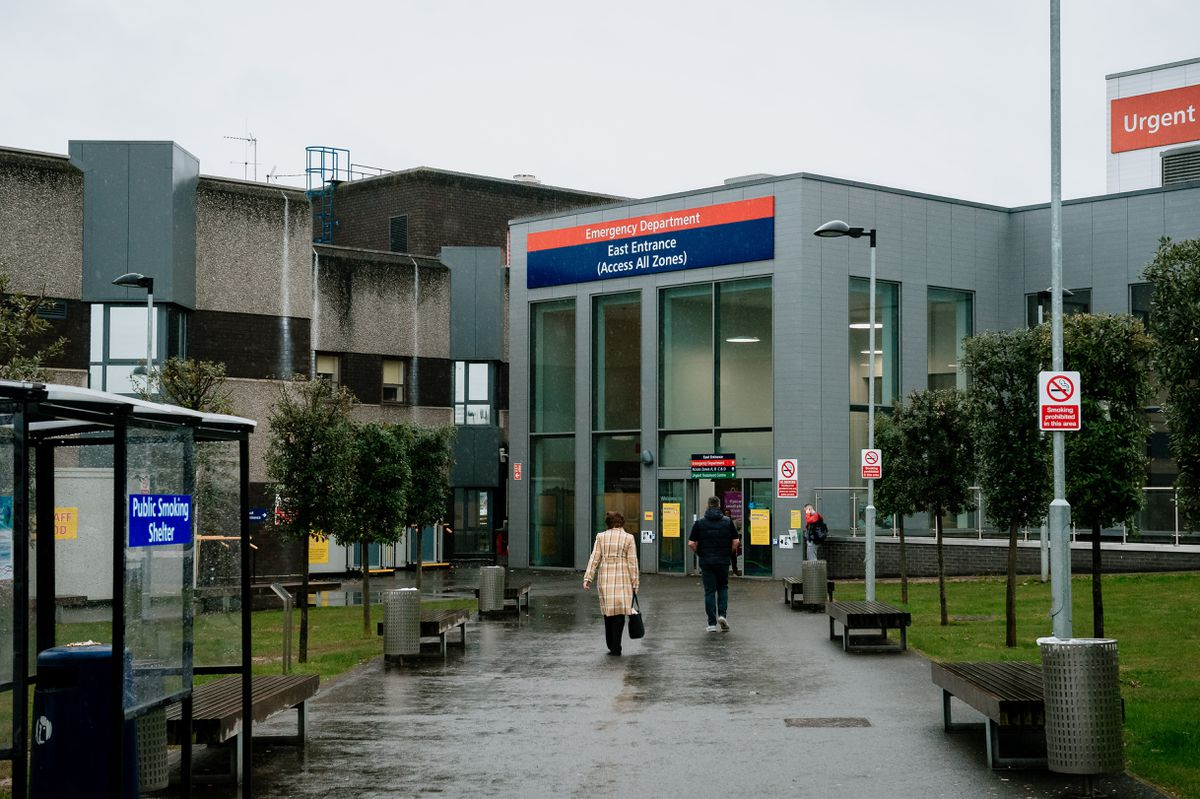 New Cross Hospital in Wolverhampton, where a patient died after testing positive for coronavirus