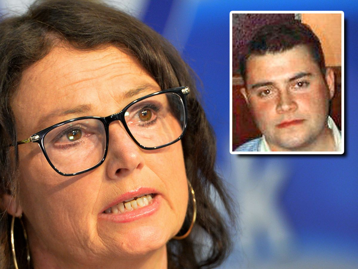 Emer Kirwan appealed for information on what would've been the 29th birthday of son Tom, inset