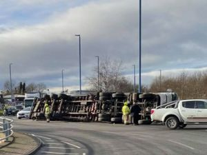 The crash. Photo: Dale Norton
