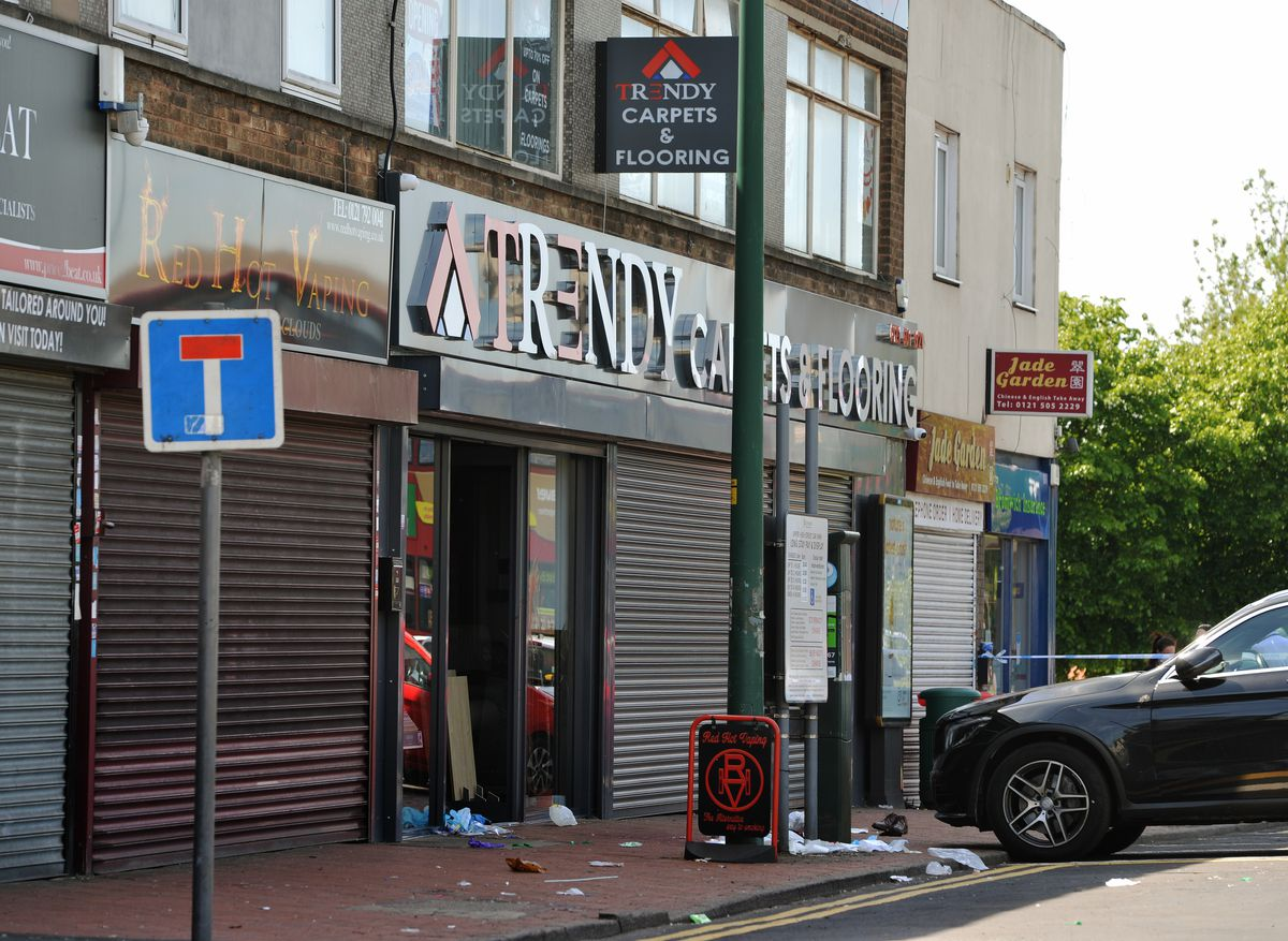 The man was stabbed near Trendy Carpets and Flooring
