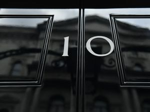 The front door of number 10 Downing Street in London