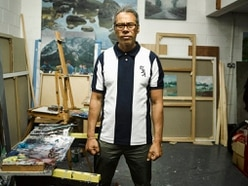 The artist who learned to love football with West Brom