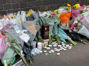 Some of the tributes at the crash scene