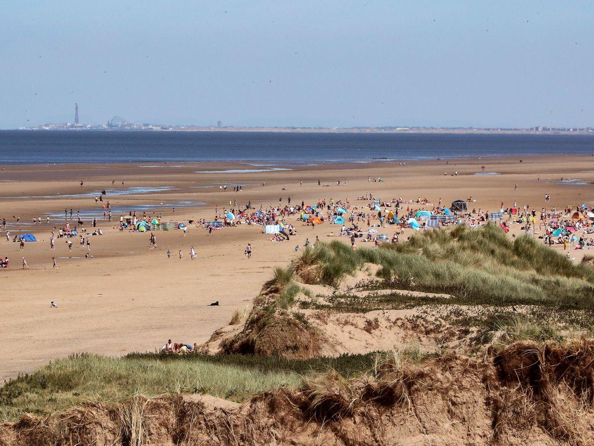 Formby beach in Merseyside