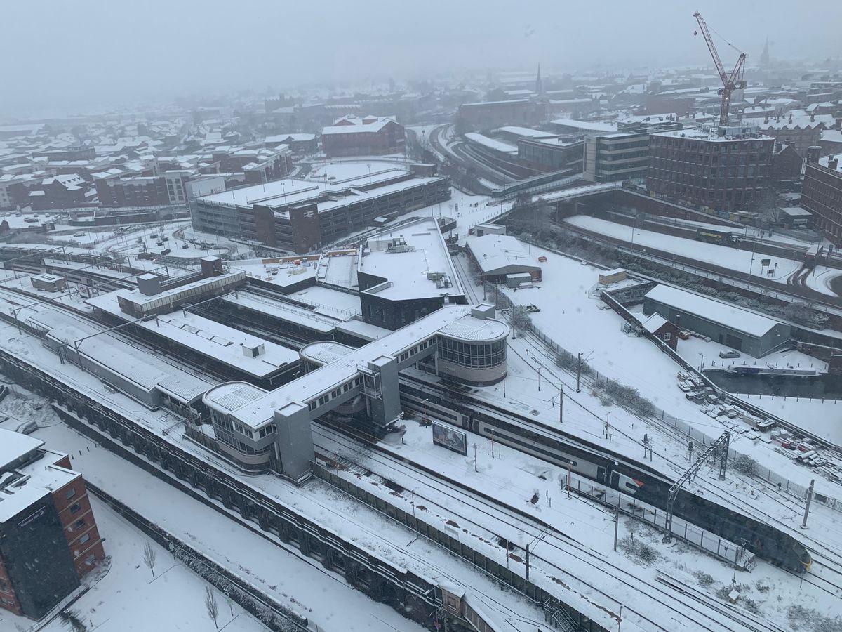 Snow in Wolverhampton. Pic: Chloe Kaur