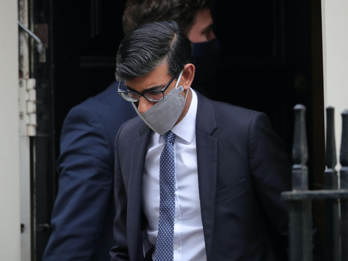 Chancellor of the Exchequer Rishi Sunak leaves Downing Street (Aaron Chown/PA)