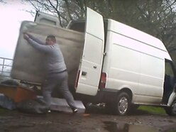 WATCH: Bungling fly-tippers dump furniture right in front of CCTV camera
