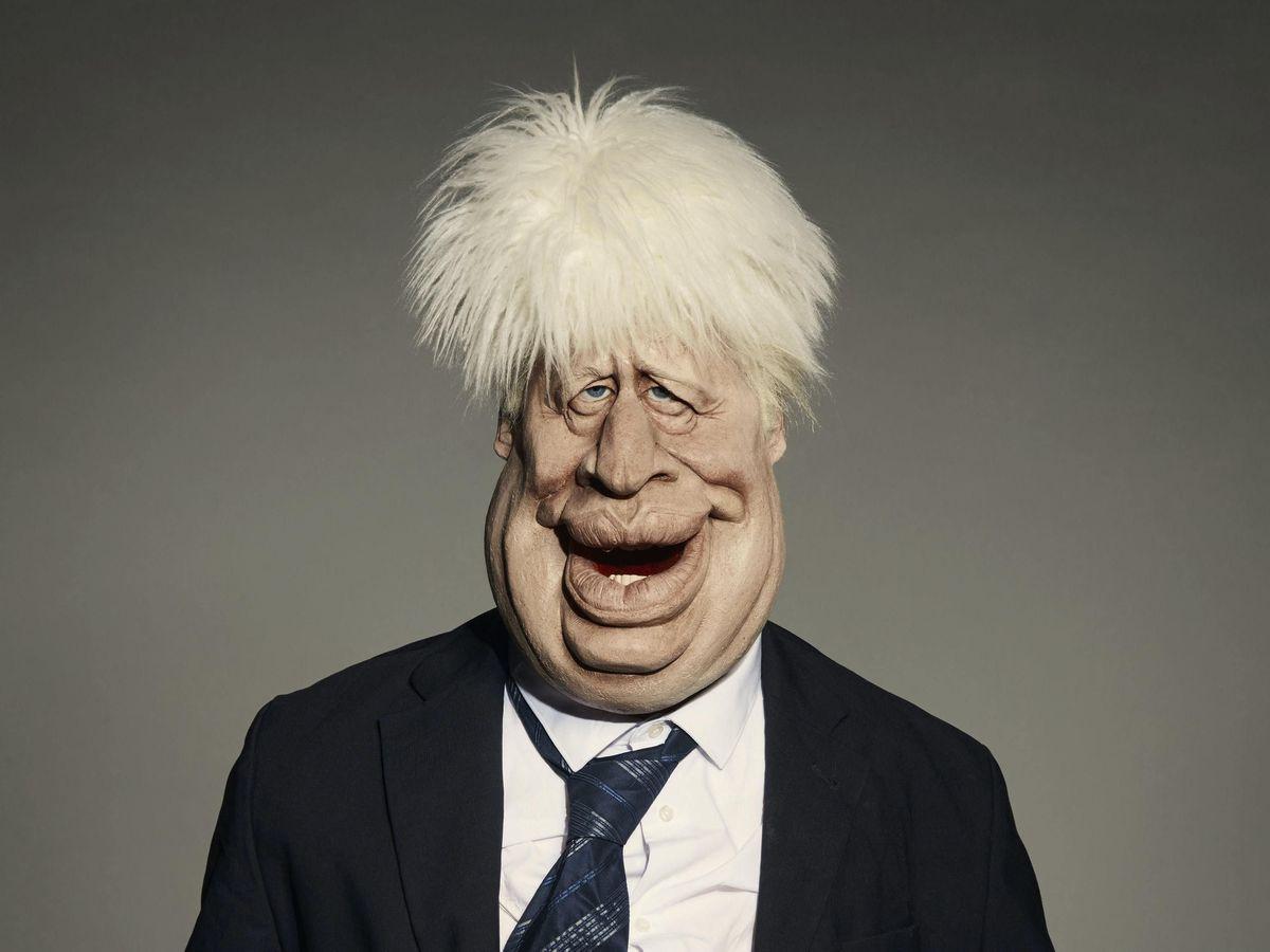 The Spitting Image puppet of Prime Minister Boris Johnson