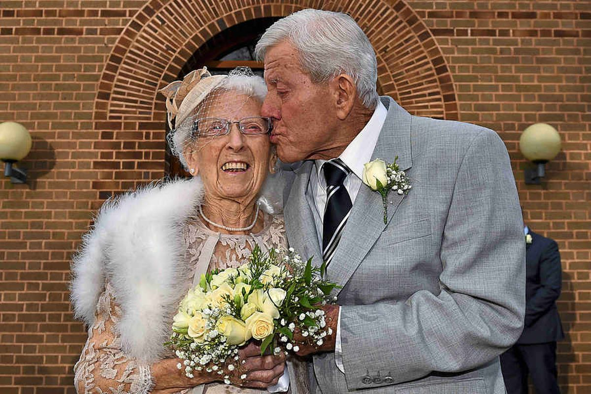 VIDEO and PICTURES: Happy ever after for Black Country newlyweds aged 90 and 96
