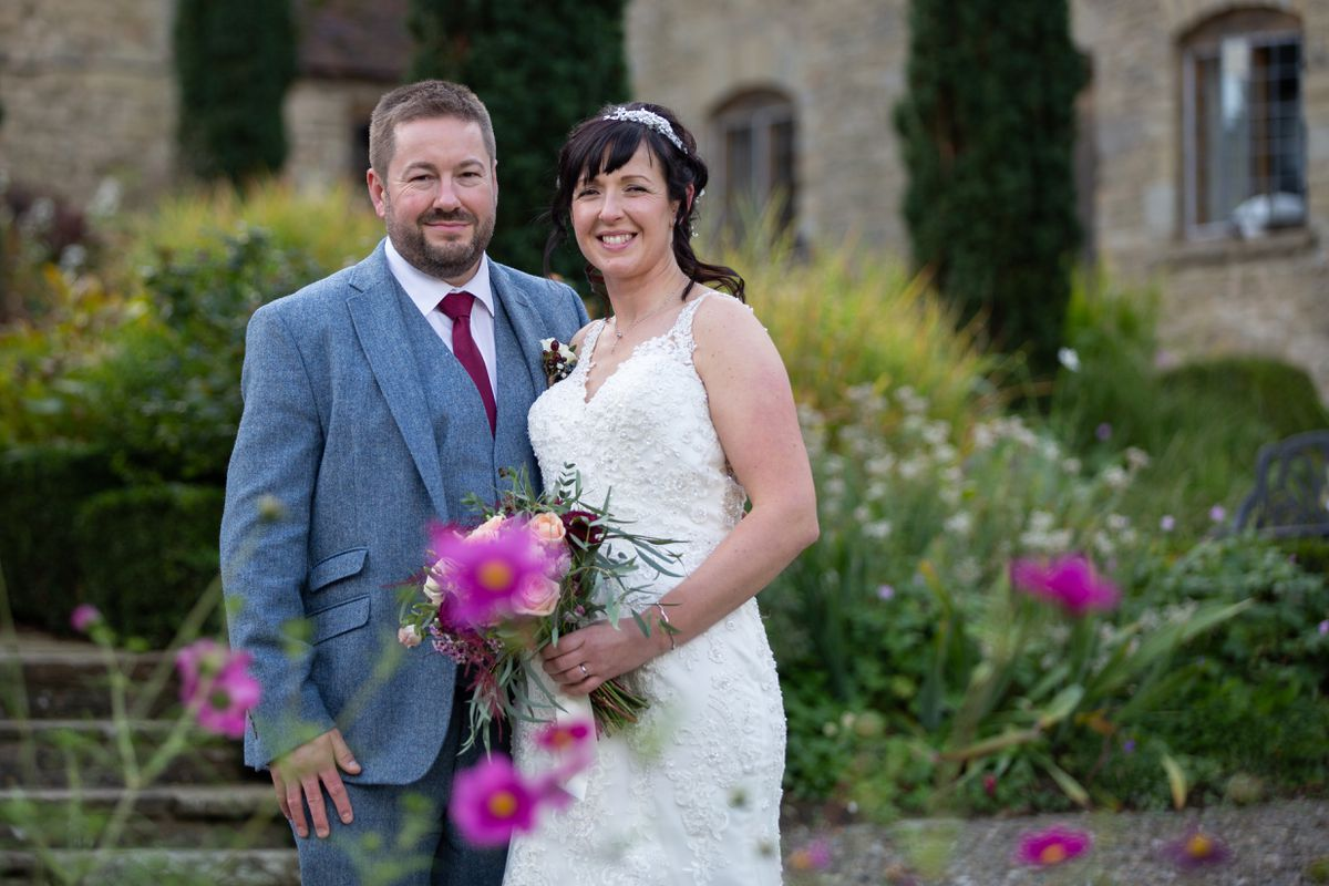 The couple, who met through online dating, have been together three-and-a-half-years and were married at Old Downton Lodge