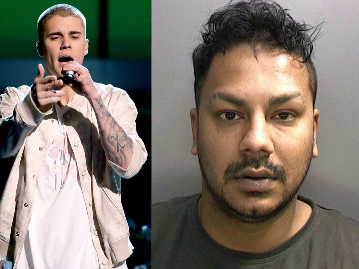 Yohann Ramchelawon picked the profile photo of someone who looked like Justin Bieber, pictured, to target victims via social networks such as Facebook and WhatsApp