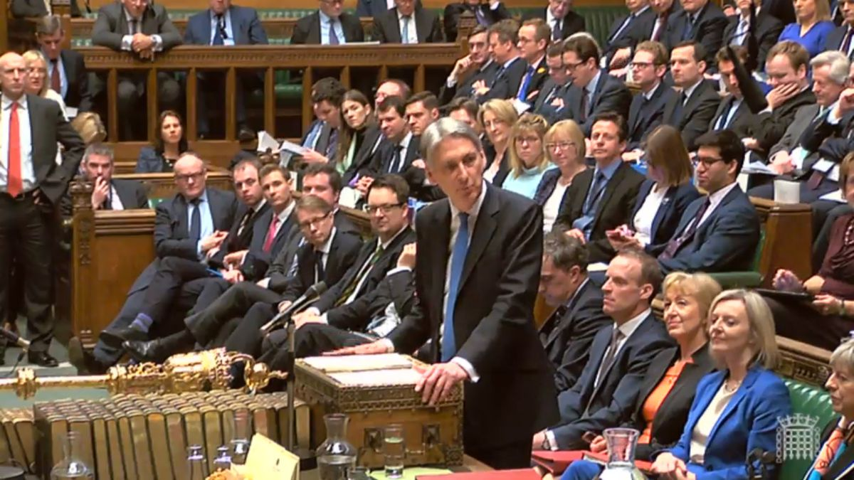 Chancellor of the Exchequer Philip Hammond delivers his first spring statement in the House of Commons