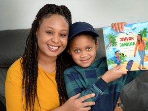 Natasha Brown has written a new children's book called Jehvon goes to Jamaica. She is pictured with her son Elijah, aged 6, who the book is based on