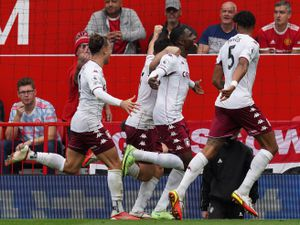 Aston Villa's Kortney Hause (second right) celebrates with his team mates