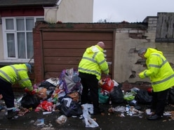 50 bags of rubbish and a FRIDGE dumped in Wolverhampton street