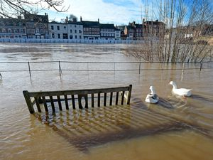 Flooding along the River Severn in Bewdley