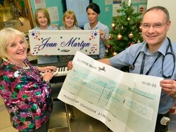 Britain's Got Talent star Jean Martyn performs for patients at New Cross Hospital - with VIDEO