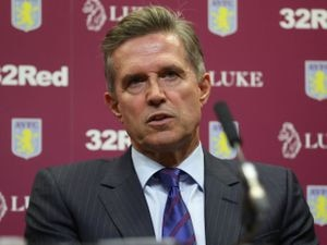 """Aston Villa CEO Christian Purslow  during a press conference at Villa Park, Birmingham. PRESS ASSOCIATION Photo. Picture date: Monday October 15, 2018. See PA story SOCCER Villa. Photo credit should read: Mike Egerton/PA Wire. RESTRICTIONS: EDITORIAL USE ONLY No use with unauthorised audio, video, data, fixture lists, club/league logos or """"live"""" services. Online in-match use limited to 75 images, no video emulation. No use in betting, games or single club/league/player publications."""