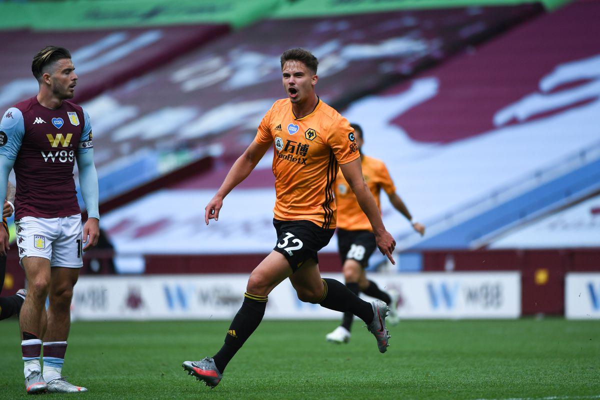 Leander Dendoncker of Wolverhampton Wanderers celebrates after scoring a goal to make it 0-1 (AMA)
