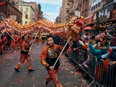 Huge parade held in New York to celebrate Year of the Pig