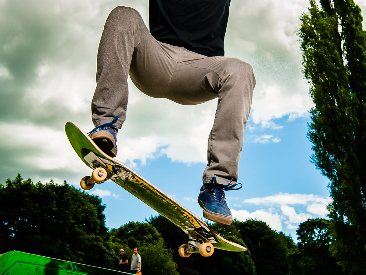 NORTH COPYRIGHT SHROPSHIRE STAR JAMIE RICKETTS 09/06/2017  New Skate Park now open next to Market Drayton Swimming Pool.  In Picture L>R: Alex Devries 19 from Standon near Ecclesall on his skateboard.