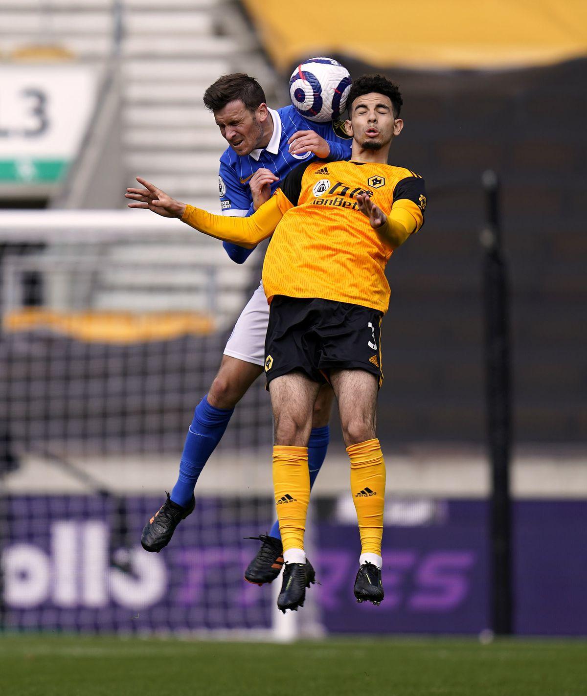 Wolverhampton Wanderers' Rayan Ait-Nouri (right)