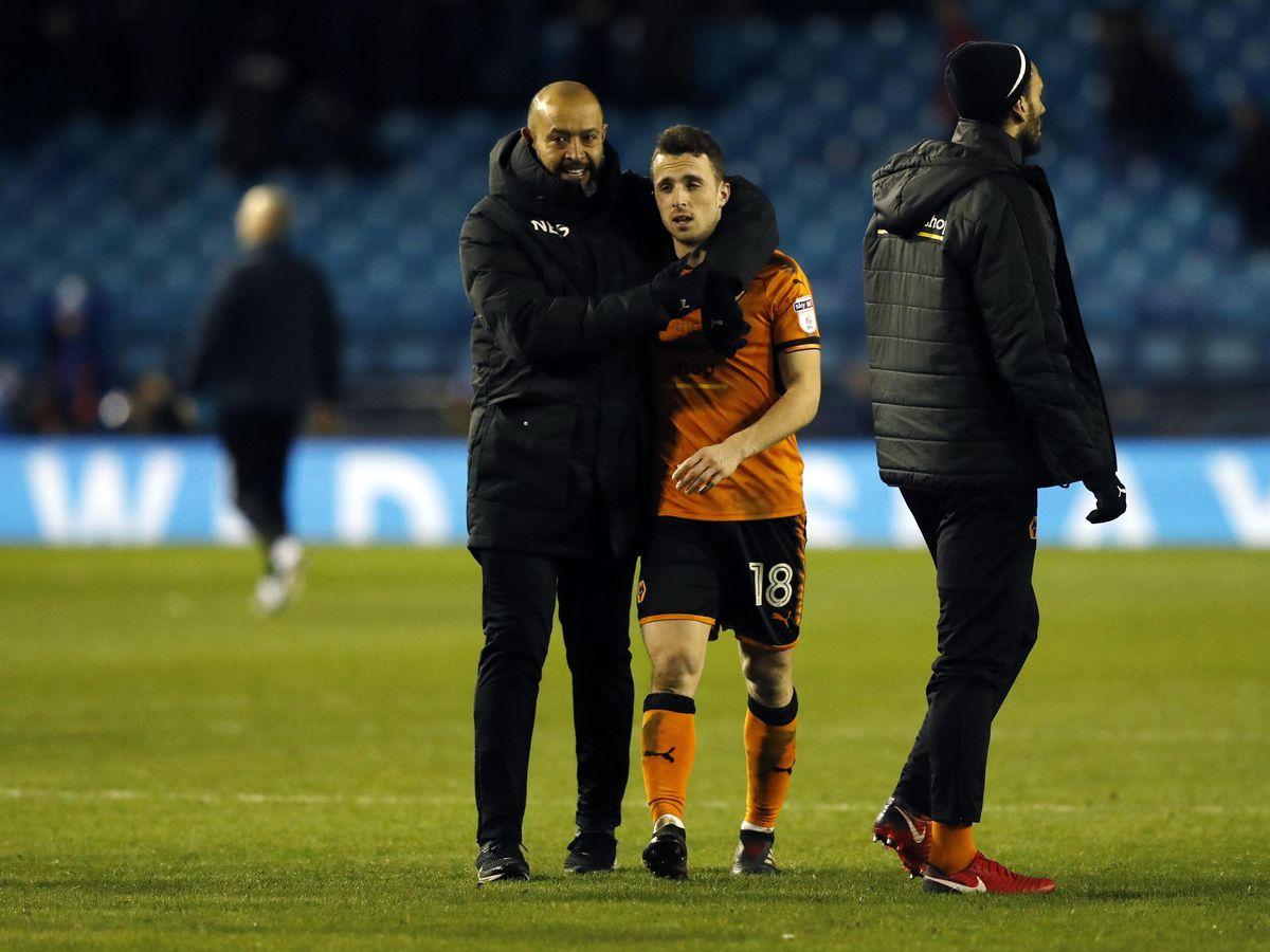 Wolves manager Nuno Espirito Santo and Diogo Jota are parting ways