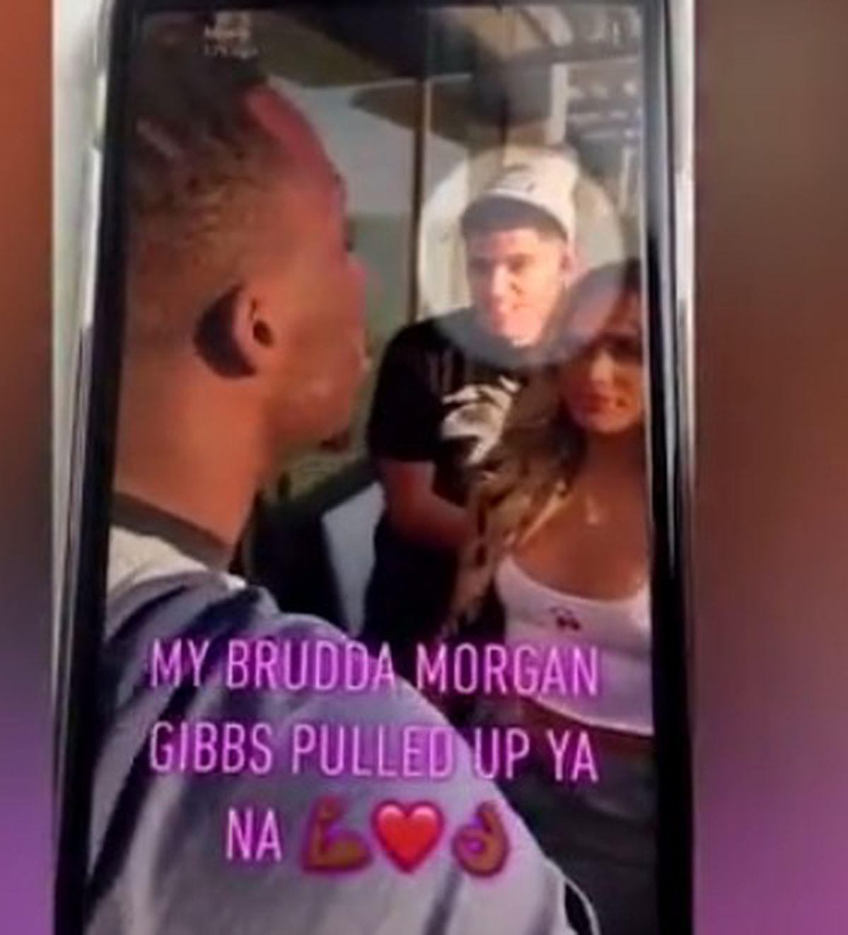 Morgan Gibbs-White at the party in London (via Snapchat)