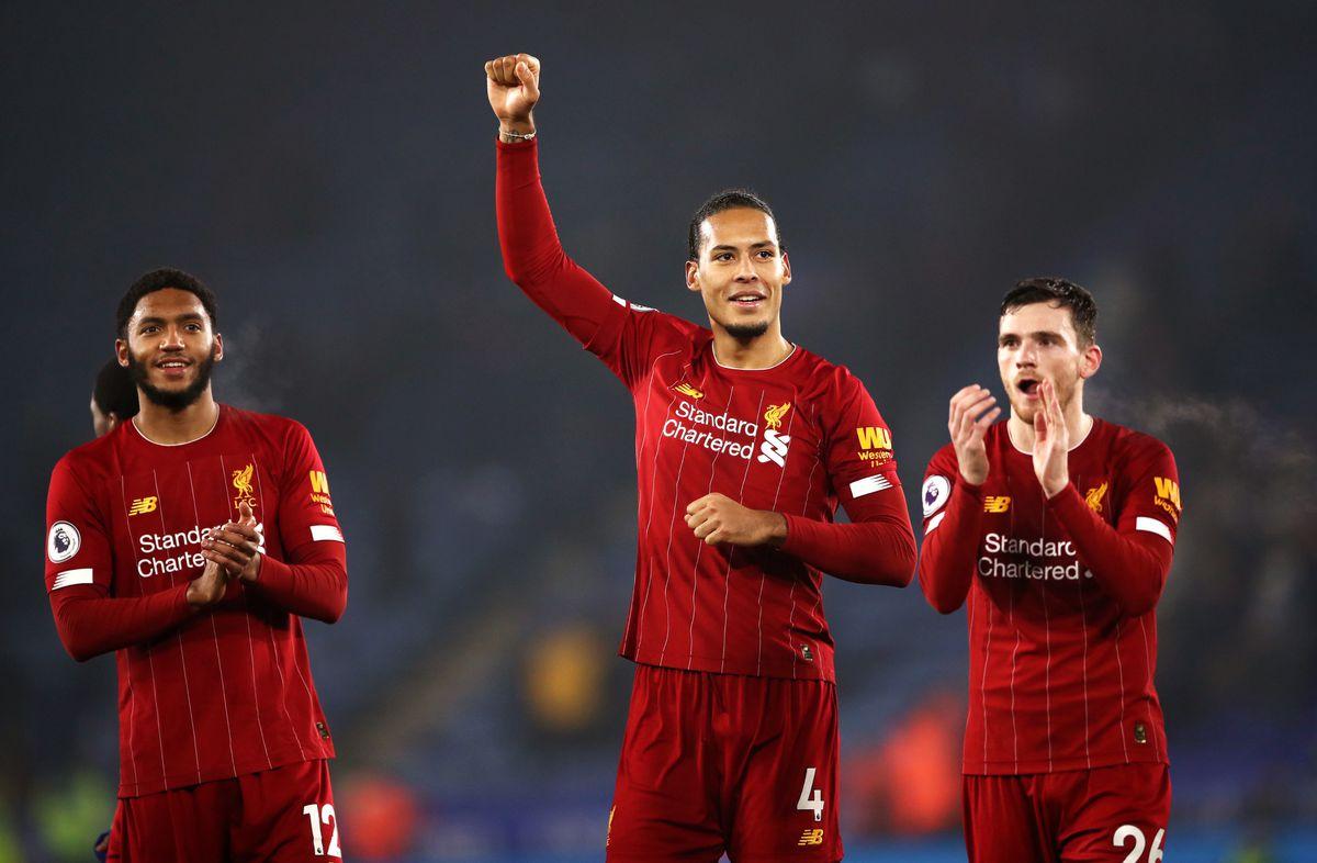 Liverpool's Virgil van Dijk and Andrew Robertson
