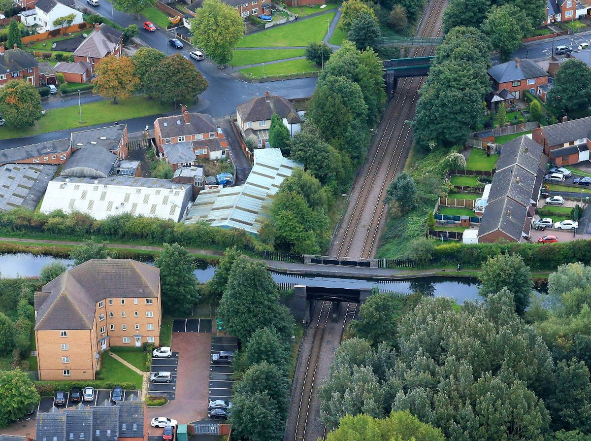 The Chase line between Bloxwich and Walsall crossing the Wyrley and Essington canal. Photo: Network Rail.