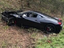 Three hurt as £150k Ferrari smashed in crash