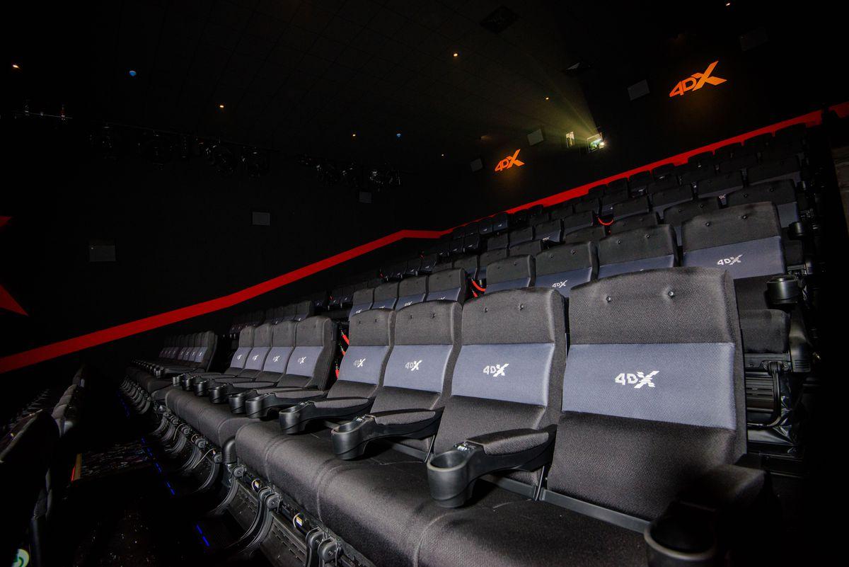 The 4DX screen at Cineworld Wolverhampton