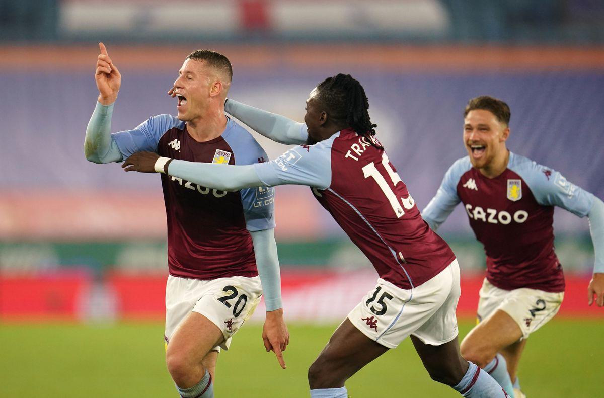 Aston Villa's Ross Barkley (left) celebrates scoring