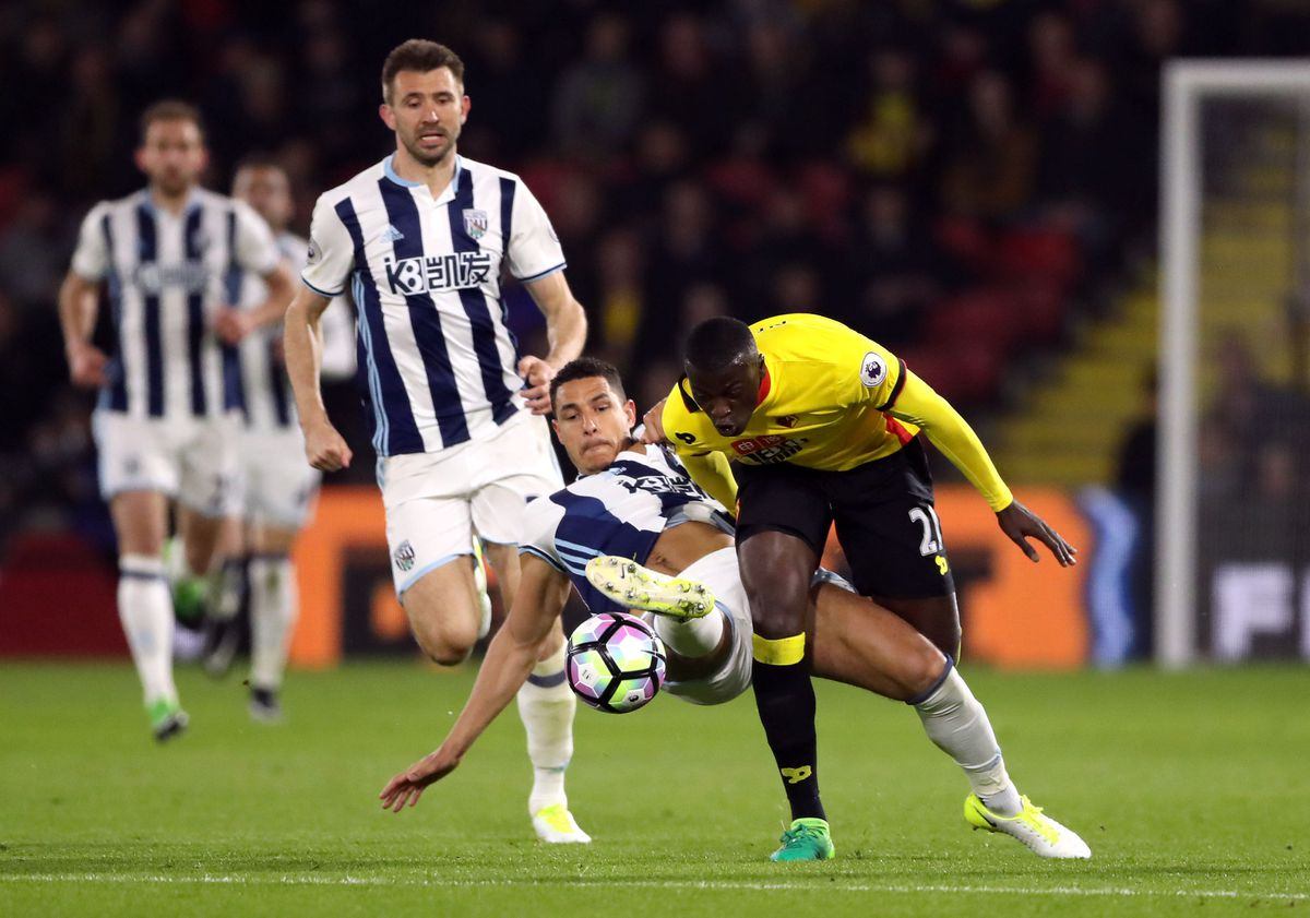 M'Baye Niang in action against Albion during his time at Watford.