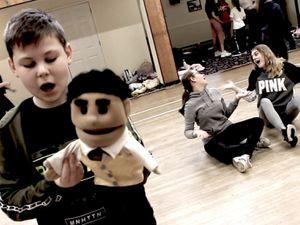 The cast of Avenue Q School Edition presented by Lollipop Theatre Arts