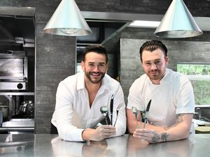TV chef Liam Dillon with James Price and Arthur Price