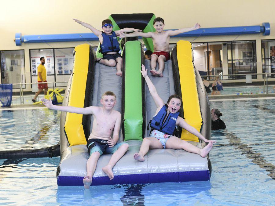 Youngsters enjoy Aqua Mayhem at Wednesbury Leisure Centre