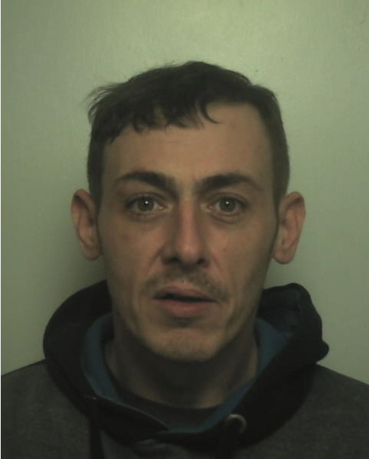 Gavin Hladkiy was jailed for two years and three months after admitting handling the stolen Mercedes