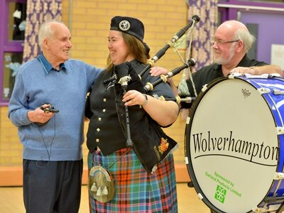 WATCH: What it's like to be in Wolverhampton Pipe Band