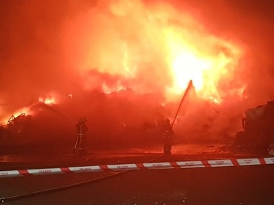 Crews fight Coseley scrap yard blaze